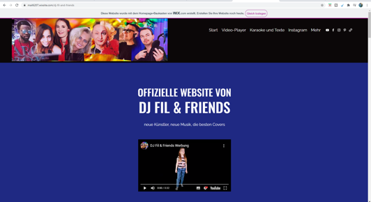 DJ Fil & Friends Homepage - Videos, Infos, Songtexte, Karaoke und mehr